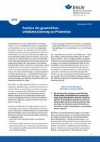 Position der Gesetzlichen Unfallversicherung zur Prävention