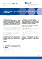 """FBHL-018 """"Gefährdungen beim Einsatz von Trockeneis als Kühlmittel Teil 3 – Handhabung bei Konfektionierung und Lagerung"""""""