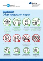 КОРОНАВИРУС - Общи предпазни мерки