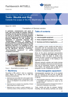 "FBHM-068 ""Tools / Moulds and Dies - Outside the scope of the EC Machinery Directive 2006/42/EG"""