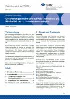 """FBHL-017 """"Gefährdungen beim Einsatz von Trockeneis als Kühlmittel Teil 2 – Trockeneis beim Transport"""""""