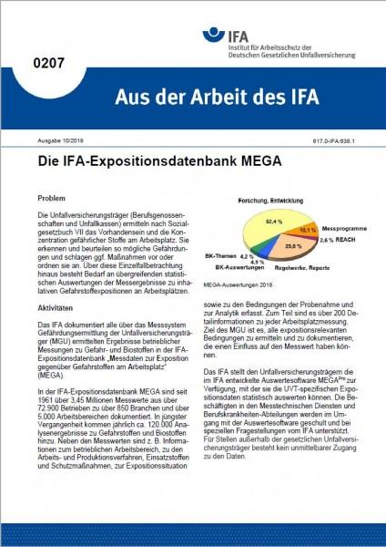 IFA-Expositionsdatenbank MEGA (Aus der Arbeit des IFA Nr. 0207)