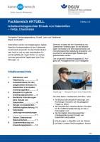 """FBHM-118 """"Arbeitsschutzgerechter Einsatz von Datenbrillen - FAQs, Checklisten"""""""