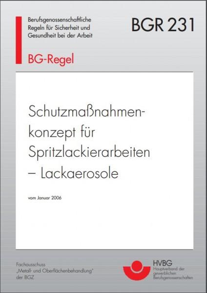 Schutzmaßnahmenkonzept für Spritzlackierarbeiten - Lackaerosole
