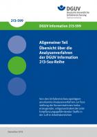 Allgemeiner Teil: Übersicht über die Analysenverfahren der DGUV Information 213-5xx-Reihe