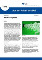 Panikmanagement. Aus der Arbeit des IAG Nr. 3018
