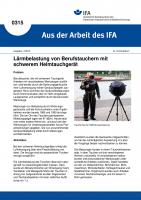 Lärmbelastung von Berufstauchern mit schwerem Helmtauchgerät. Aus der Arbeit des IFA Nr. 0315