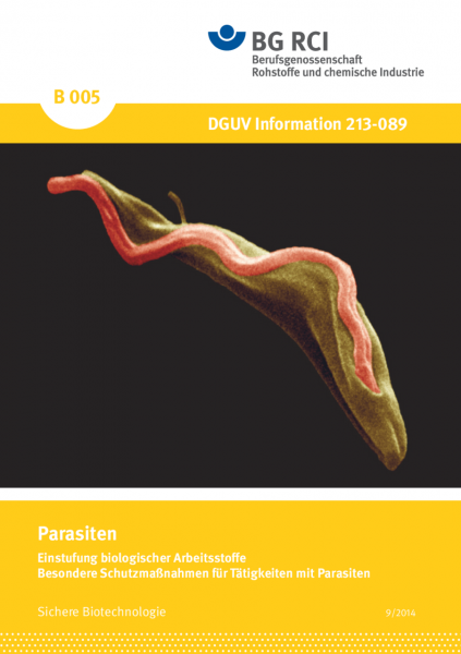 Einstufung biologischer Arbeitsstoffe-Parasiten - Besondere Schutzmaßnahmen für Tätigkeiten mit Para