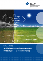 IAG Report 1/2013 Gefährdungsbeurteilung psychischer Belastungen - Tipps zum Einstieg
