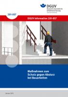 Maßnahmen zum Schutz gegen Absturz bei Bauarbeiten