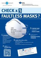 Check x 5 - Faultless masks? (Plakat DIN A3)