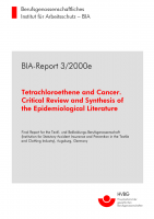 Tetrachloroethene and cancer, BIA-Report 3/2000e