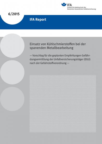 Einsatz von Kühlschmierstoffen bei der spanenden Metallbearbeitung – Vorschlag für die geplanten Emp