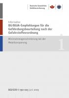 BG/BGIA-Empfehlungen für die Gefährdungsbeurteilung nach der Gefahrstoffverordnung - Minimalmengenschmierung bei der Metallzerspanung