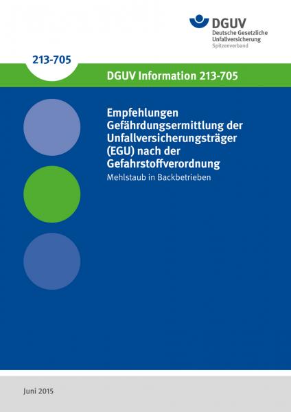 Empfehlungen Gefährdungsermittlung der Unfallversicherungsträger (EGU) nach der Gefahrstoffverord