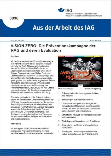 Vision ZERO: Die Präventionskampagne der RAG und deren Evaluation (Aus der Arbeit des IAG 3096)