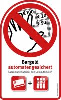 Aufkleber (groß) – Bargeld automatengesichert