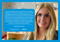 "Plakat #ImpfenSchützt, Motiv ""Christa Manske"" (UK|BG) Querformat"