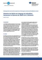 Hinweise der DGUV zum Umgang mit Geimpften/Genesenen im Rahmen der SARS-CoV-2-Pandemie