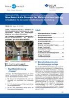 """FBHM-110 """"Handbeschickte Pressen der Metall-Kaltbearbeitung - Checkliste für die sicherheitstechnische Beurteilung"""""""