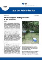 Mikrobiologische Hintergrundwerte in der Außenluft. Aus der Arbeit des IFA Nr. 0301