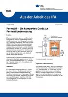Permobil - Ein kompaktes Gerät zur Permeationsmessung. Aus der Arbeit des IFA Nr. 0304