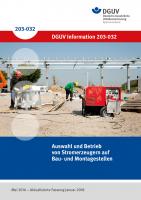Auswahl und Betrieb von Stromerzeugern auf Bau- und Montagestellen