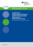 Empfehlungen Gefährdungsermittlung der Unfallversicherungsträger (EGU) nach der Gefahrstoffverordnung - Beschriften von Kunststoffen mit Laser