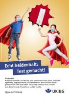 "Poster #Testing helps, motif ""Really heroic"" (UK|BG)"