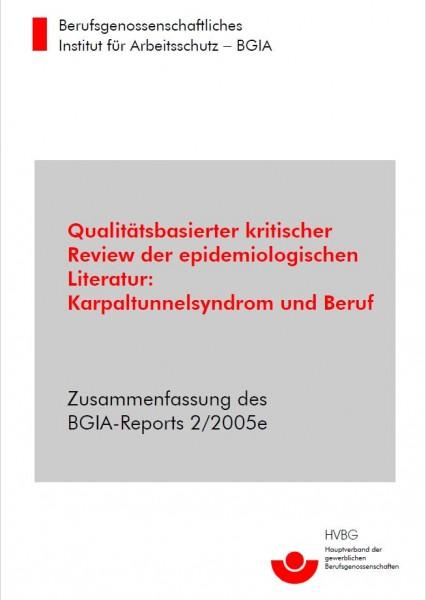 Qualitätsbasierter kritischer Review der epidemiologischen Literatur: Karpaltunnelsyndrom und Beruf