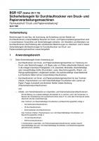 Sicherheitsregeln für Durchlauftrockner von Druck- und Papierverarbeitungsmaschinen