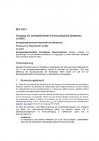 Umgang mit Lichtwellenleiter-Kommunikations-Systemen (LWKS)