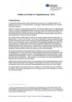 Unfallgeschehen von Kindern in Tagesbetreuung 2012