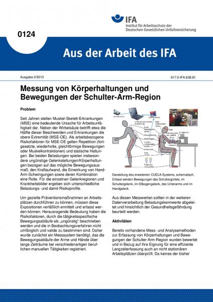 Messung von Körperhaltungen und Bewegungen der Schulter-Arm-Region. Aus der Arbeit des IFA Nr. 0124