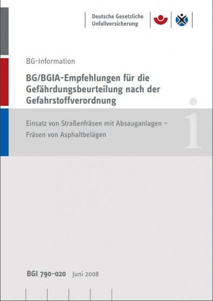 BG/BGIA-Empfehlungen für die Gefährdungsbeurteilung nach der Gefahrstoffverordnung: Einsatz von Stra