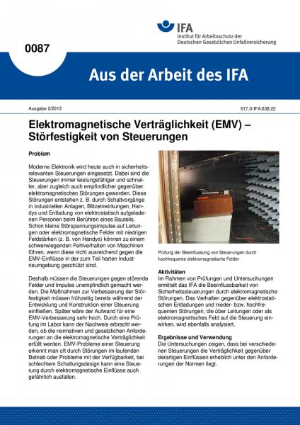 Elektromagnetische Verträglichkeit (EMV) - Störfestigkeit von Steuerungen. Aus der Arbeit des IFA Nr