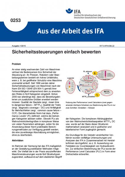 Sicherheitssteuerungen einfach bewerten. Aus der Arbeit des IFA Nr. 0253