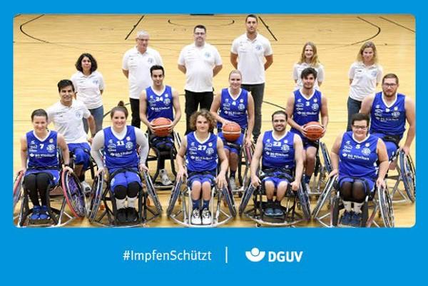 """Motiv #ImpfenSchützt, """"BG Baskets Hamburg"""" (DGUV)"""