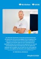 Plakat #ImpfenSchützt, Motiv: Dr. Heiko Martens (UK|BG und BG Kliniken) Hochformat