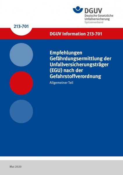 Empfehlungen Gefährdungsermittlung der Unfallversicherungsträger (EGU) nach der Gefahrstoffverordnun