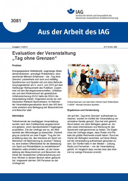 """Evaluation der Veranstaltung """"Tag ohne Grenzen"""" (Aus der Arbeit des IAG Nr. 3081)"""