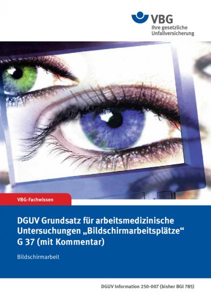 """DGUV Grundsatz für arbeitsmedizinische Vorsorgeuntersuchungen """"Bildschirmarbeitsplätze"""" G 37 (mit Ko"""