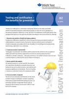 Testing and certification - the benefits for prevention