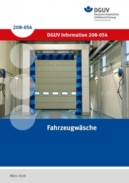 """DGUV Information 208-054 """"Fahrzeugwäsche"""""""