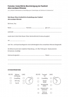Leitfaden für Betriebsärzte zur Beschäftigung von Schwerhörigen und Gehörlosen in Lärmbereich (Formular)