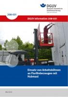 Einsatz von Arbeitsbühnen an Flurförderzeugen mit Hubmast