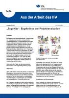"""""""ErgoKita"""": Ergebnisse der Projektevaluation (Aus der Arbeit des IFA Nr. 0414)"""