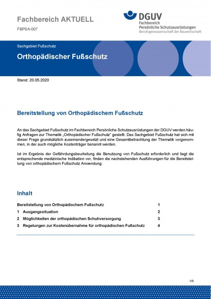 "FBPSA-007 ""Orthopädischer Fußschutz"""