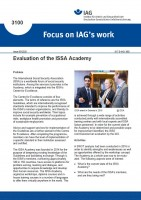Evaluation of the ISSA Academy (Focus on IAG´s work 3100)