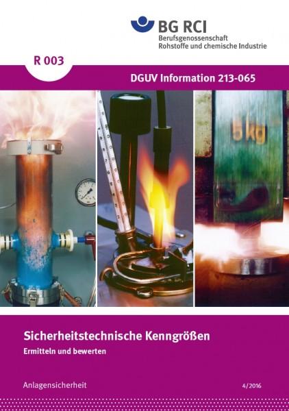 """Sicherheitstechnische Kenngrößen - Ermitteln und Bewerten (Merkblatt R 003 der Reihe """"Anlagensicherh"""